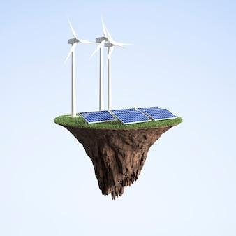 Windkraft und solarenergie