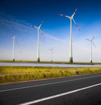 Windkraftanlage im land