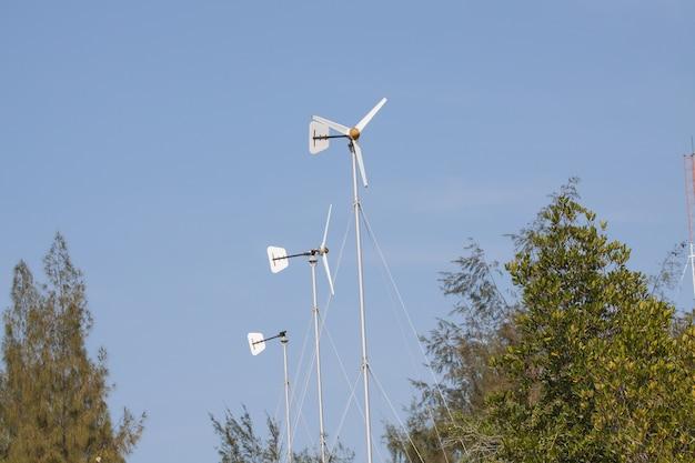 Windkraftanlagen auf einer farm