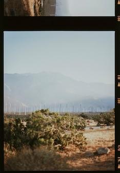 Windkraftanlagen in der wüste von palm springs, usa