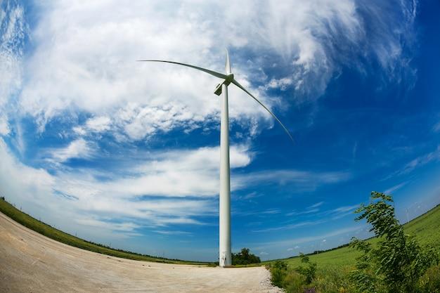 Windmühle und windenergieerzeugung