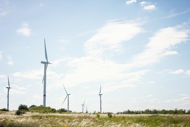 Windmühlen im feld. alternative energie