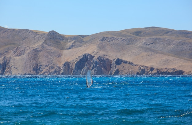 Windsurfen, baska meer in kroatien