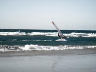 Windsurfen in wellen