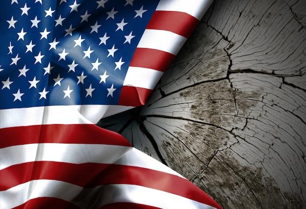 Winken der amerikanischen flagge textur der vereinigten staaten von amerika