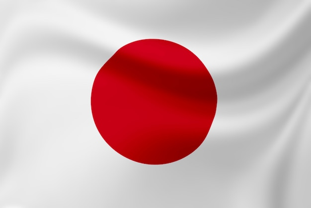 Winken der japan-flagge.