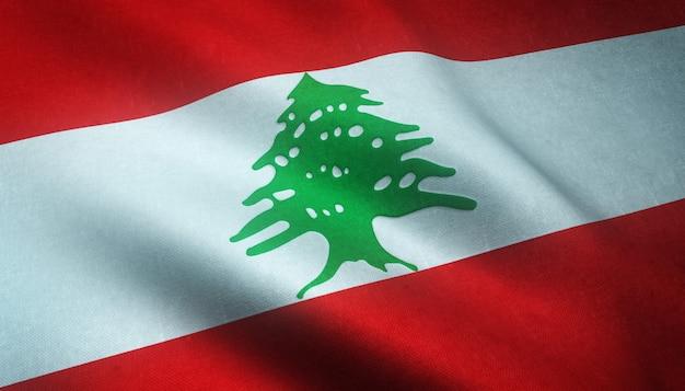 Winkende flagge des libanon