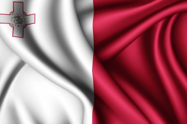 Winkende flagge von malta