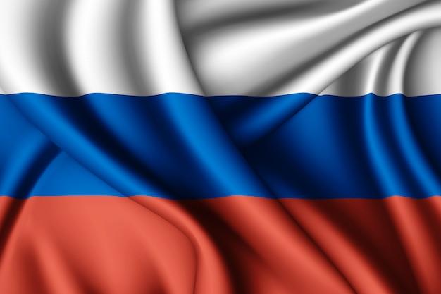 Winkende flagge von russland