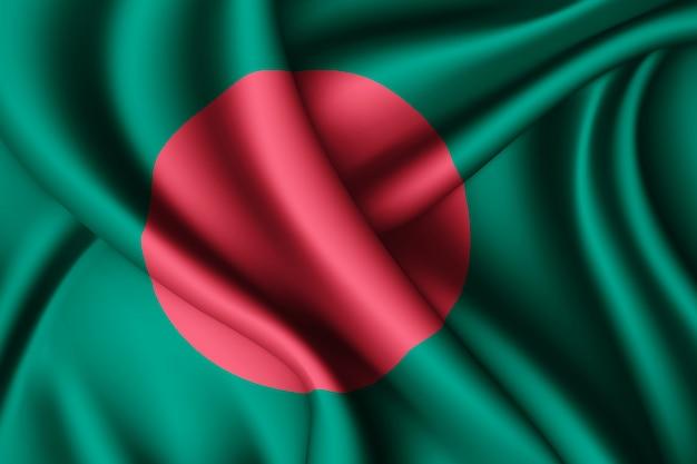 Winkende seidenfahne von bangladesch