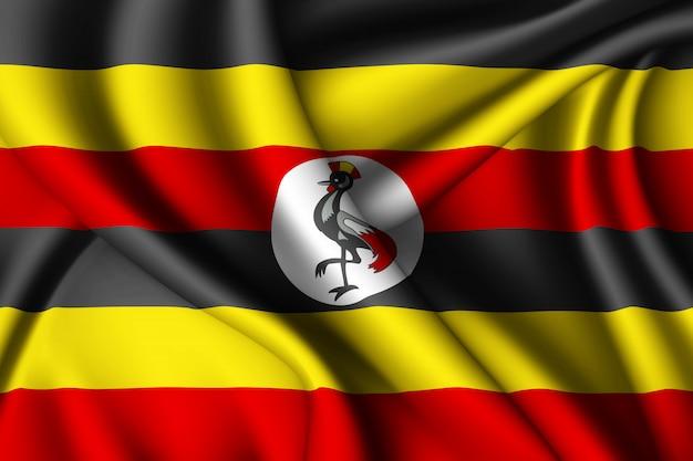 Winkende seidenfahne von uganda
