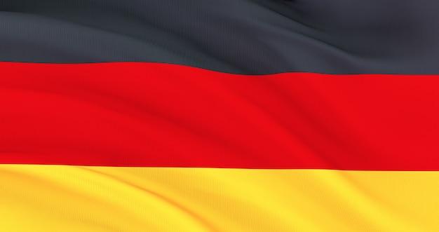 Winkende stoffflagge von deutschland, seidenfahne von deutschland, unabhängigkeitstag,