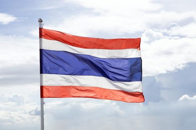 Winkende thailändische flagge