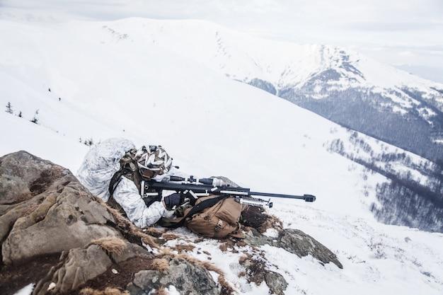 Winter arktischen berge krieg