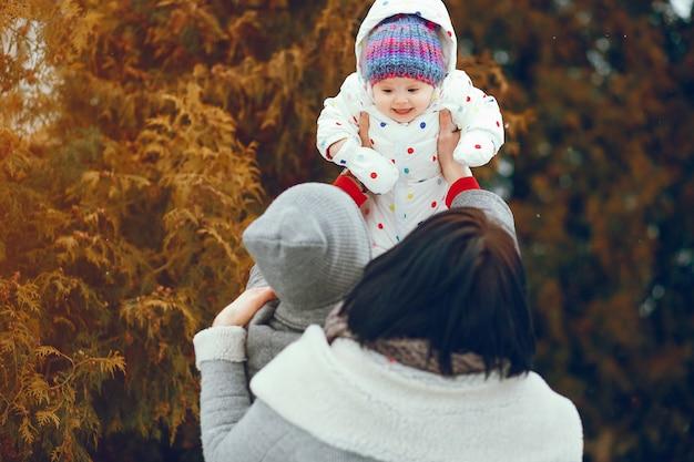 Winter familie