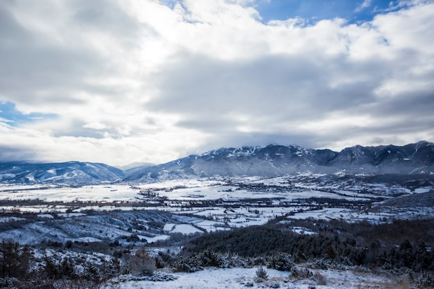 Winter in la cerdanya pyrenäen spanien