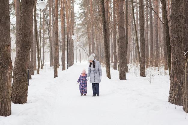 Winter-, kindheits- und menschenkonzept