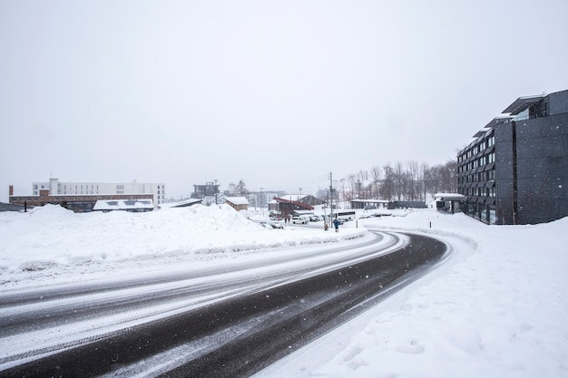 Winter und schnee in sapporo, hokkaido, japan