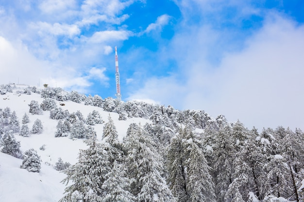 Winter verschneite berge