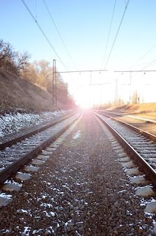 Wintereisenbahnlandschaft