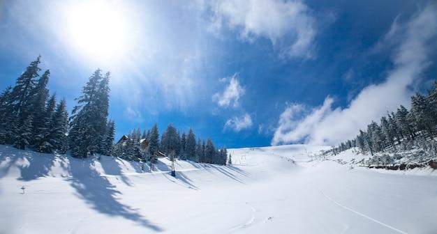 Winterlandschaft als natürlicher hintergrund