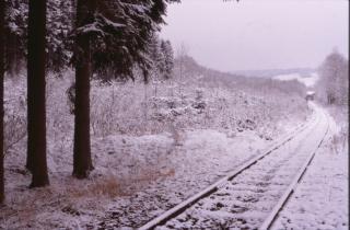 Winterlandschaft, winter, spuren