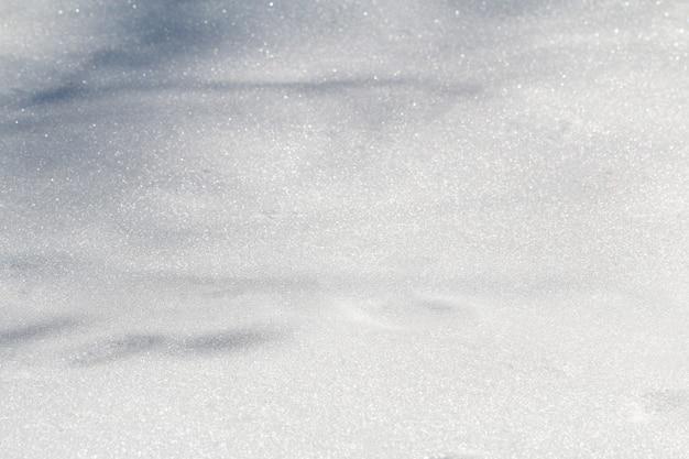 Winterschnee-schneetextur-draufsicht des schneetexturentwurfs schneeweiße texturschneeflocken