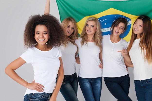 Wir unterstützen unseren freund aus brasilien