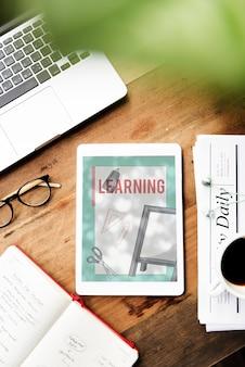 Wissen lernen akademiker studie schere lineal