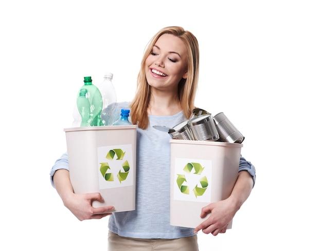 Wissen sie, wie man ein recycling startet?