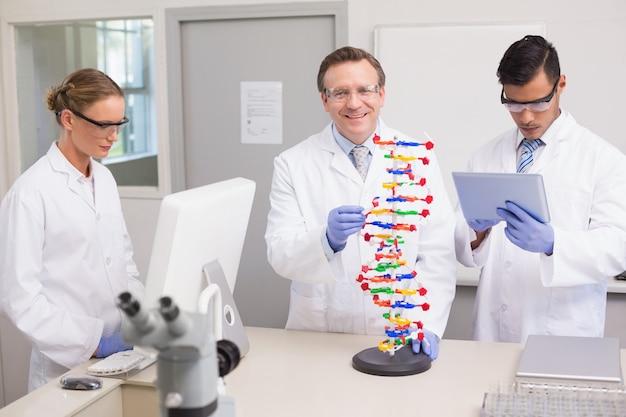 Wissenschaftler arbeiten zusammen