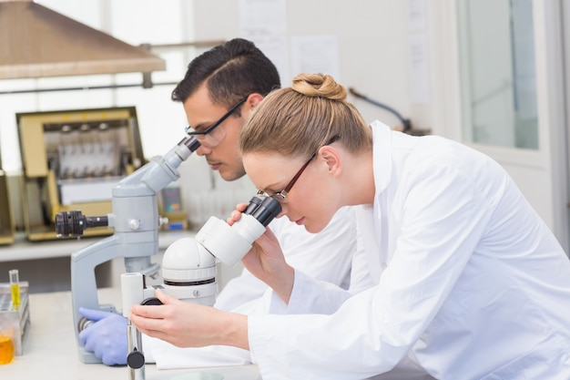 Wissenschaftler mit mikroskop