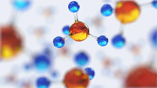 Wissenschaftliche komposition mit molekülen und atomen