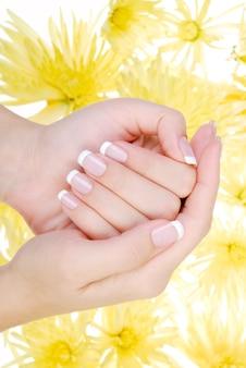 Wohlbefinden menschliche hand