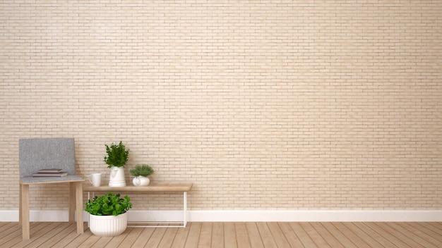 Wohnbereich im kondominium oder in der wohnung - wiedergabe 3d