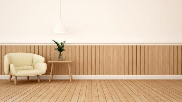 Wohnbereich in café oder lounge