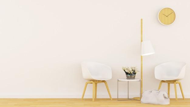 Wohnbereich in der kaffeestube oder im restaurant - wiedergabe 3d