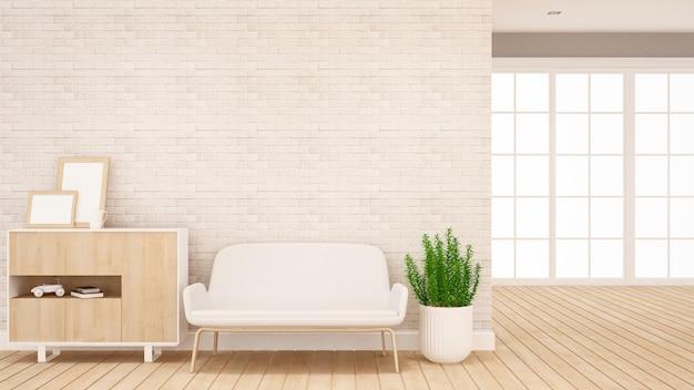 Wohnbereich und flurbereich in wohnung oder home - interior design für kunstwerke