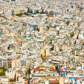 Wohngebiete der stadt athen vom berg lycabettus, griechenland