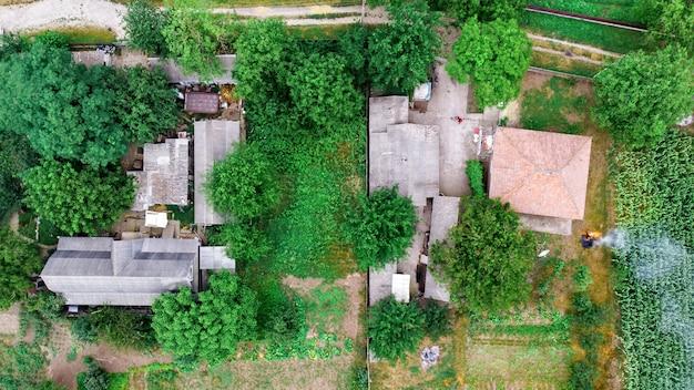 Wohnhäuser umgeben von viel grün