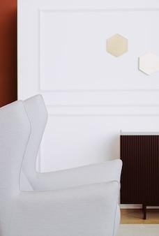Wohnkultur und innenarchitektur in modernen haus- oder wohnungsluxusmöbeln und dekorationsdetails