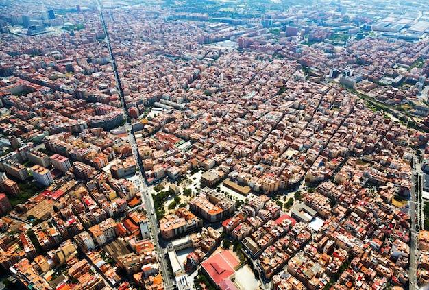 Wohnviertel von hubschrauber. barcelona