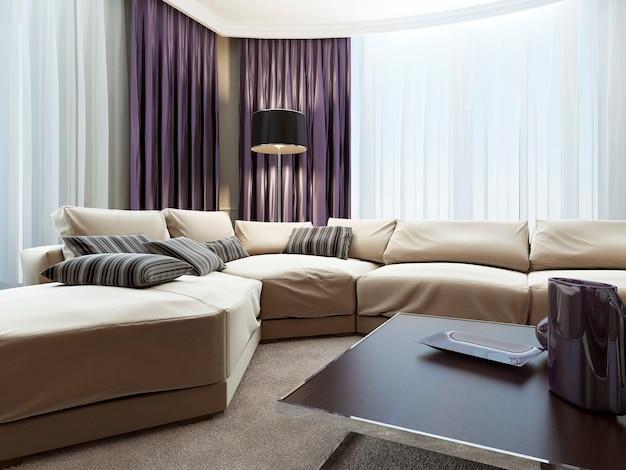 Wohnzimmer im art-deco-stil