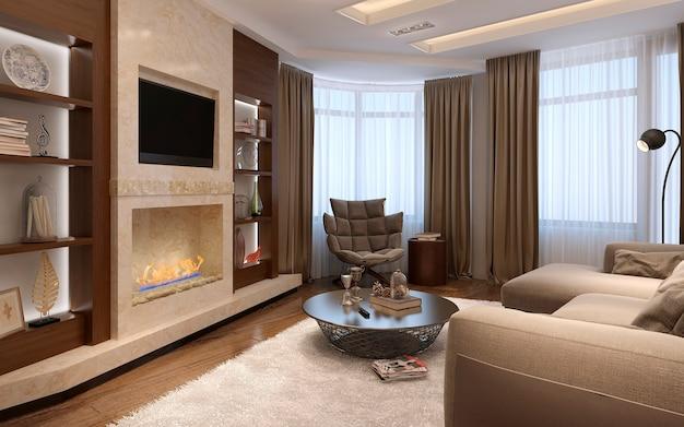 Wohnzimmer im avantgarde-stil