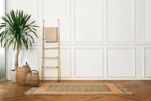 Wohnzimmer im japandi-innendesign