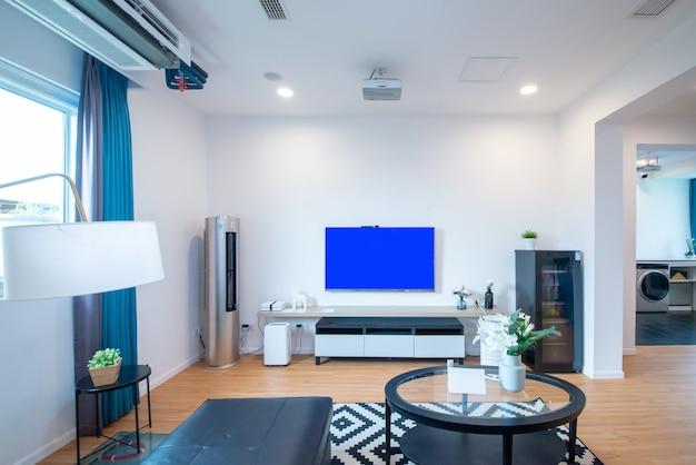 Wohnzimmer im modernen dekorationsstil
