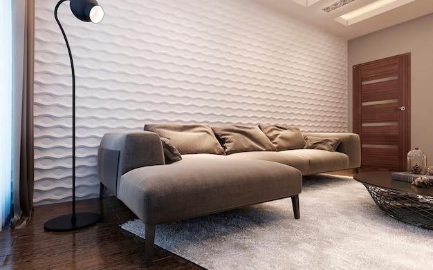 Wohnzimmer im zeitgenössischen stil.