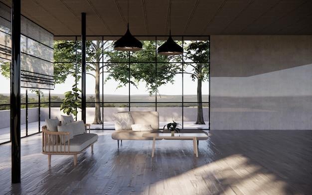 Wohnzimmer innenraum mit weisser möbel