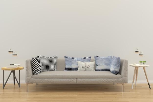 Wohnzimmer interieur hausboden mit sofa