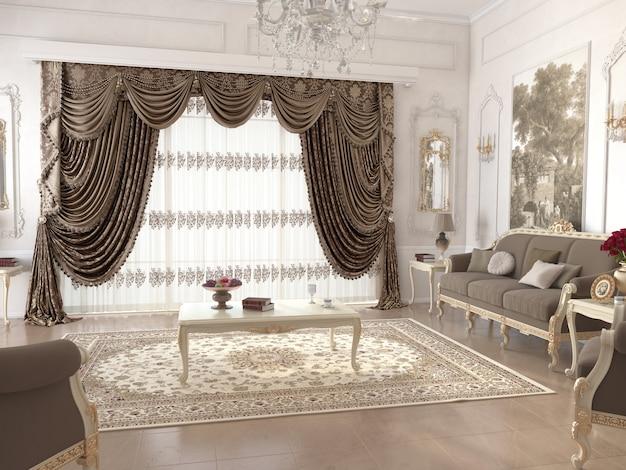 Wohnzimmer interieur mit dekoration